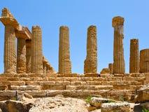 Temple de Juno en vallée des temples Photo libre de droits