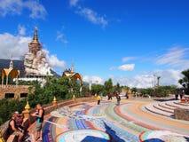 Temple de Kaew de fils de PA, Kao Kho, Petchaboon, Thaïlande Photographie stock libre de droits