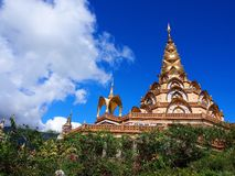 Temple de Kaew de fils de PA, Kao Kho, Petchaboon, Thaïlande Photo libre de droits