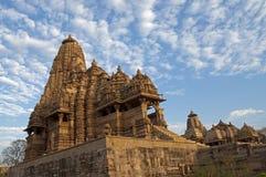 Temple de Kandariya Mahadeva, consacré à Shiva, temples occidentaux de Khajuraho, Madhya Pradesh, Inde - site de patrimoine mondia Image libre de droits