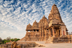 Temple de Kandariya Mahadeva, Khajuraho, site de patrimoine mondial l'Inde-UNESCO Image libre de droits