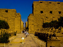 temple de karnak Photos stock
