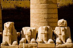 Temple de Karnak, Egypte Images libres de droits