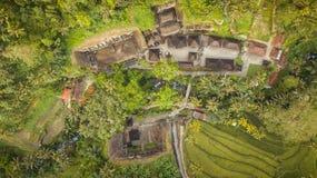 Temple de kawi de Gunung basé dans l'ubud, Bali photographie stock libre de droits