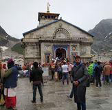 Temple de Kedarnath dans Uttarakhand photo libre de droits