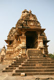 Temple de Khajuraho de ruines, Inde Photos stock