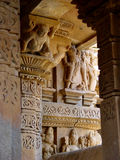 Temple de Khajuraho. l'Inde Photo stock