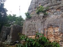 Temple de Khmer image libre de droits