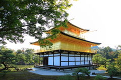 Temple de Kinkaku-ji du pavillon d'or Photographie stock