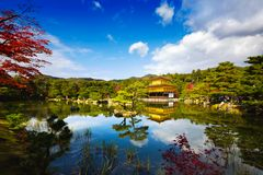 Temple de Kinkakuji Photos libres de droits