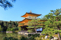 Temple de Kinkakuji, temple d'or Images libres de droits