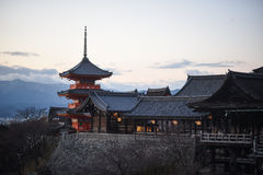 Temple de Kiyomitzu photographie stock libre de droits