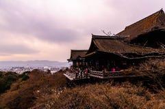 Temple de Kiyomizu dans la saison de nouvelle année Photo libre de droits
