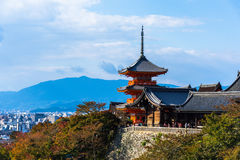 Temple de Kiyomizu-dera à Kyoto, Japon Photographie stock libre de droits