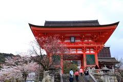 Temple de Kiyomizu, Japon Image libre de droits