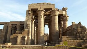 Temple de Kom Ombo le long de la rivière le Nil en Egypte image stock