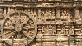 Temple de Konark Sun - beauté architecturale d'Inde Image stock
