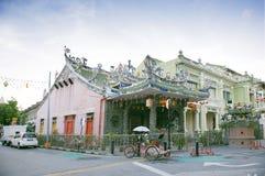 Temple de Kongsi de jacasserie, un temple chinois, qui est situé dans la rue arménienne, George Town, Penang, Malaisie Images libres de droits