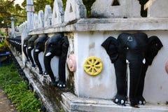 Temple de l'éléphant de Sri Lanka images libres de droits