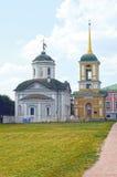 Temple de la croix sainte Beffroi 1737-39 de sauveur 1792 architectes Mironov, Dikushin Photographie stock libre de droits