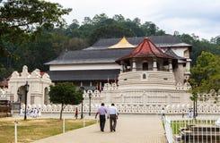 Temple de la relique sacrée de dent à Kandy, Sri Lanka Image stock