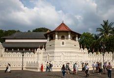 Temple de la relique Sri Dalada Maligawa de dent à Kandy, Sri Lanka image libre de droits