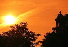 Temple de la Sibylle in the Parc des Buttes-Chaumont Royalty Free Stock Image
