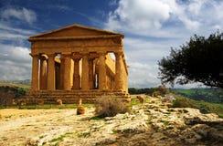 temple de la Sicile d'accord Image libre de droits