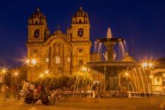 Temple de la société de Jesus Church Cusco Peru photos stock