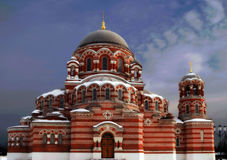 Temple de la trinité sacrée dans Kolomna Photo stock