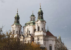 Temple de la vieille place à Prague Photographie stock