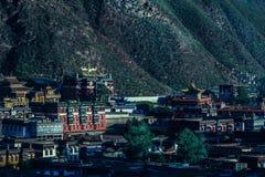 Temple de Labuleng, au sud de Gansu, la Chine photographie stock