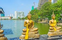 Temple de lac à Colombo Photographie stock libre de droits