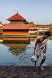Temple de lac Ananthapura Images stock