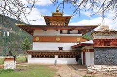 Temple de Lahkhang de carillon au Bhutan Photo stock
