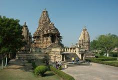 Temple de Lakshmana chez Khajuraho photographie stock libre de droits