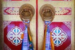 Temple de Langmusi de Tibétain à l'intérieur Images libres de droits