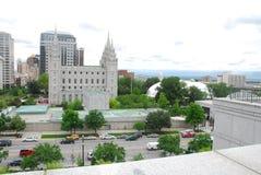 Temple de LDS Image libre de droits