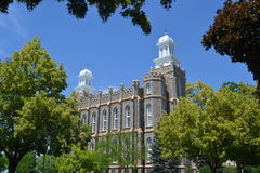 Temple de Logan Utah image stock