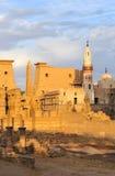 Temple de Louxor, Egypte au coucher du soleil Photographie stock libre de droits