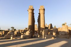 Temple de Louxor - l'Egypte photo libre de droits