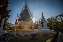 Temple de luang de Chedi Image libre de droits
