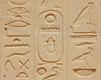 Temple de Luxor hiéroglyphique photo stock