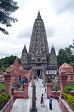 Temple de Mahabodhi dans Bodhgaya Photo libre de droits