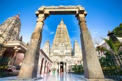 Temple de Mahabodhi dans Bodhgaya Photo stock