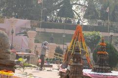 Temple de Mahabodhi dans Bodhgaya, Bihar, Inde Photos libres de droits