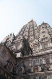 Temple de Mahabodhi, gaya de bodh, Inde Images stock