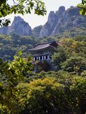 Temple de Mangwolsa, parc national de Dobongsan, Séoul, Corée photo stock