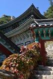 Temple de Mangwolsa, parc national de Dobongsan, Séoul, Corée images libres de droits