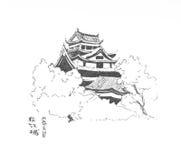 Temple de Matsue (Japon) Photographie stock libre de droits